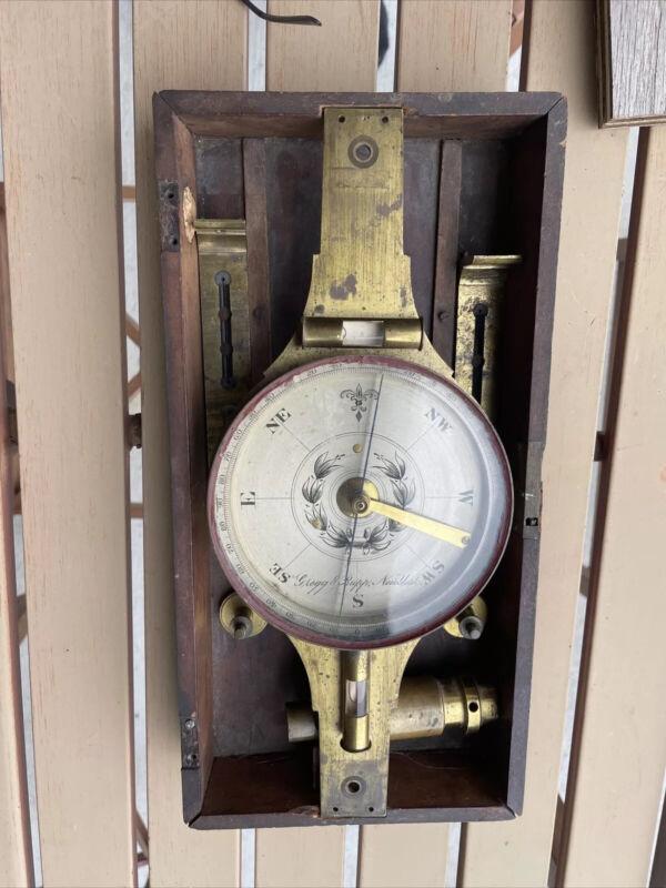 American Survey Compass Nautical Mathematical Instruments 1844 Gregg & Rupp NY
