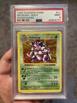 1999 Base Set Holo NIDOKING 11/102 SHADOWLESS Pokemon Card PSA 9 MINT!!