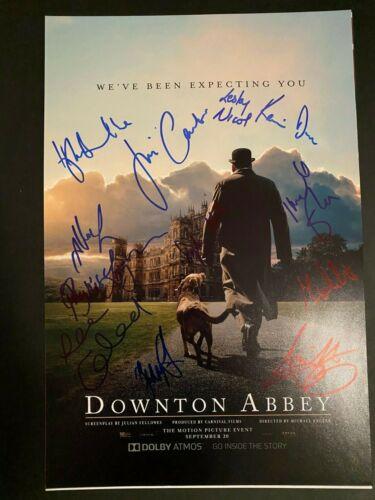 DOWNTON ABBEY CAST SIGNED PHOTO 12X18 MICHELLE DOCKERY AUTOGRAPH IMDELA STAUNTON
