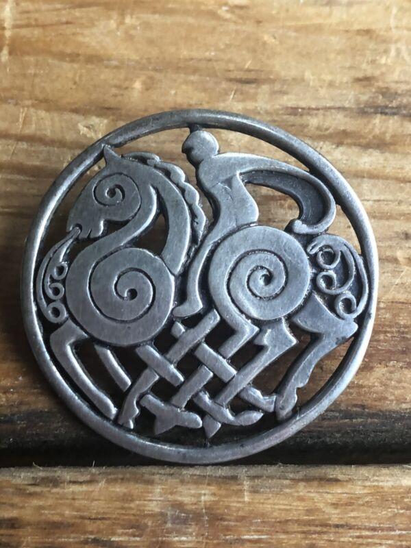 Art Deco Sterling Pin Brooch English Modernist
