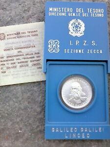 500 lire argento Galileo Galilei 1982 - Italia - 500 lire argento Galileo Galilei 1982 - Italia