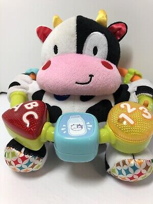 VTech Lil' Critters Moosical Beads Black White Cow toy ABC 123