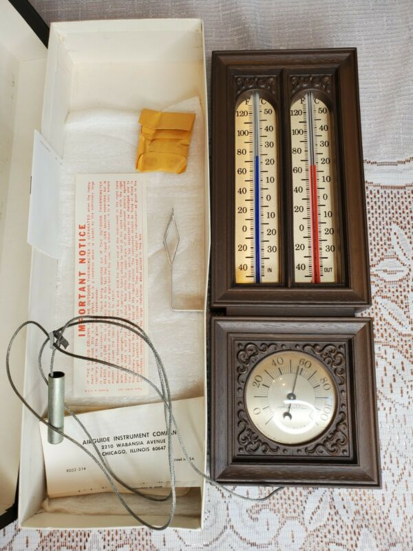 Vintage Airguide thermometer The 423 Indoor outdoor New Old Stock