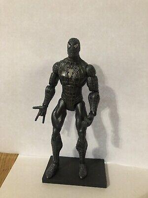 Rare Spiderman 3 Black Suit Action Figure Marvel Hasbro2006
