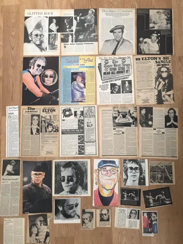 25+ Vintage Elton John Pinup Magazine Clippings