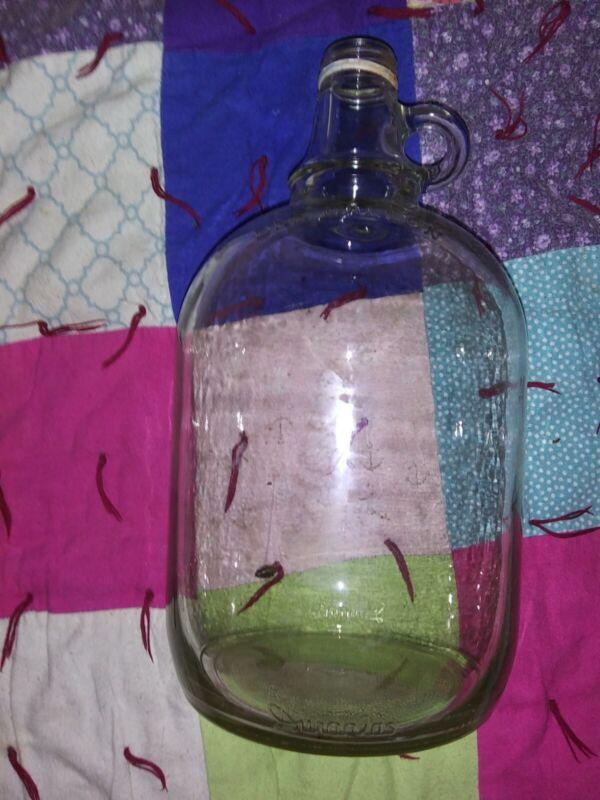 Vintage Duraglas 1 Gallon Clear Glass Jug - Embossed - Owen