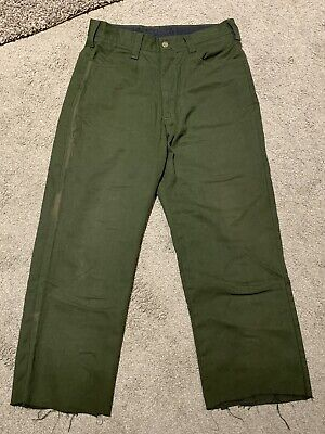 Fss Aramid Wildland Firefighter Pants Cargo Forest Fire Green Sz 32 X 28 See Pic