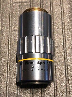Mitutoyo M Plan Apo 10 X 0.28 0 F200 Objective Lens