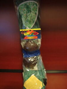 Teen Size GREEN GRASS HULA Skirt with COCONUT BRA NEW