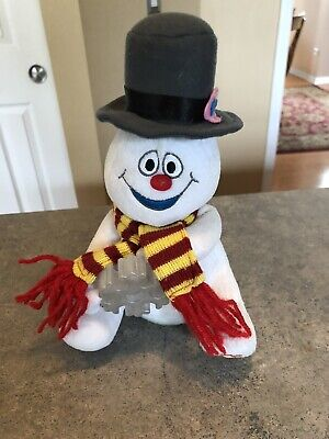 Gemmy Animated Frosty The Snowman Snowflake Plush—NICE