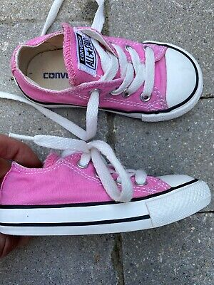 pink CONVERSE shoes toddler baby girl sz 6 worn3weeks clean EUC