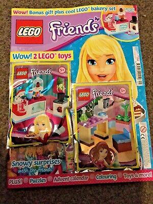 Lego Friends Magazine issue 41 Lego bakery set & bonus toy Microscope