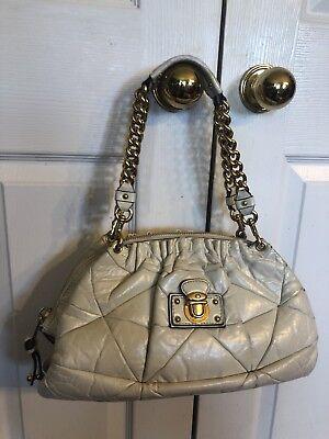 Marc Jacobs Genuine Leather Gold Hardware Satchel Bag