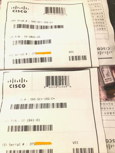 Cisco  Ons-sc+-10g-c  Sfp+ 10g Dwdm Mr Full C-band Tunable 10-2841-01 80km Lc