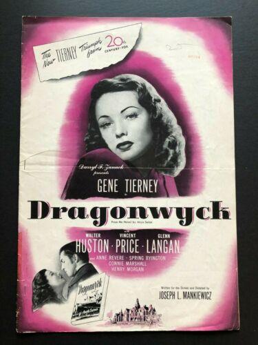 "Dragonwyck Original Pressbook (1946) - 20 Pages 11"" x 16"" VG+"