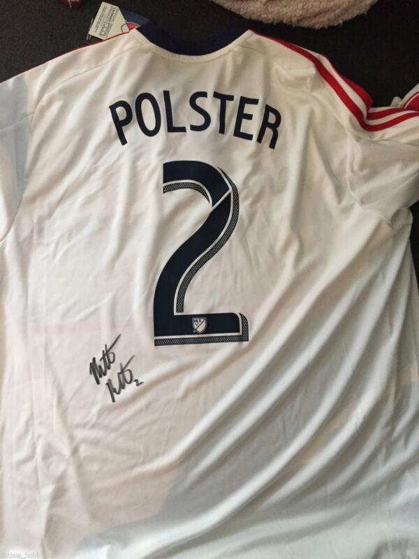 Chicago Fire Matt Polster Autographed Signed MLS Jersey COA BNWT