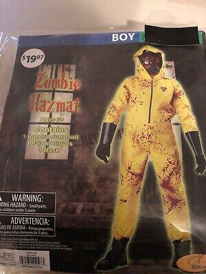 Zombie Costume For Girl (Halloween Costume Boy's Zombie Hazmat Medium, Large or XLarge)