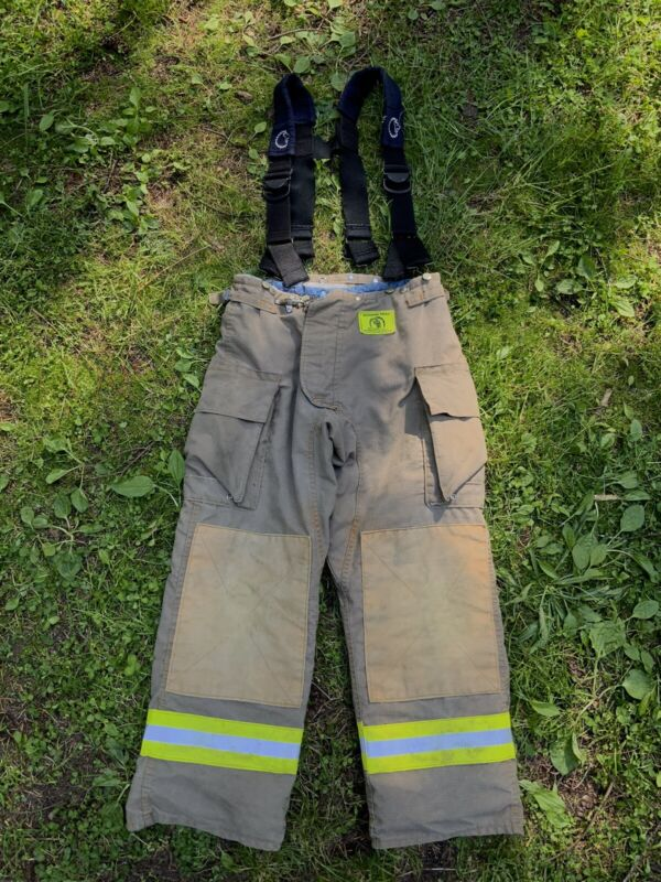 Morning Pride Fire Fighter Turnout Pants 34x31 Bunker Gear (2783)