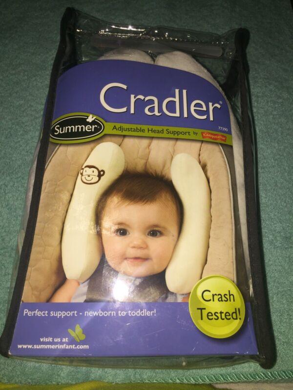 NEW! Summer Infant Cradler Adjustable head support - Ivory Monkey