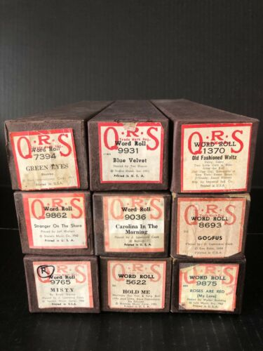 9 QRS PIANO ROLLS - OLDER TUNES  - ALL IN PERFECT PLAYING CONDITION! -  LOT 2