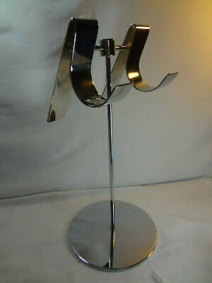 Display Stand Counter Top Retail Store - Handbags Scarfs Hats Jewelry - Chrome
