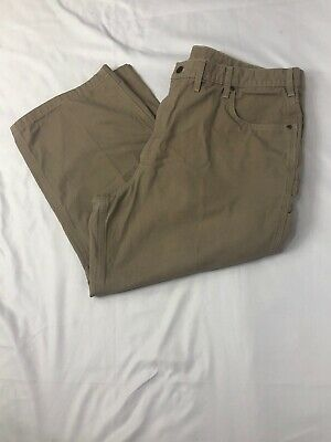 Carhartt Mens Golden Khaki (CARHARTT Men Size 44 x 25.5 Carpenter Loose Fit Canvas Pants B159 Golden Khaki )