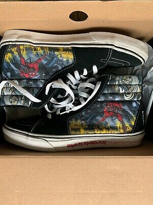 Authentic Vans Iron Maiden Number of the Beast Hi Top Shoe US size 10