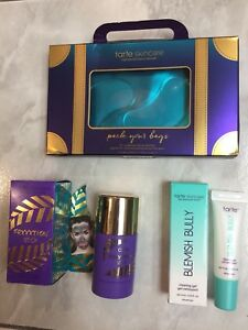 TARTE skincare products, $10 to $15