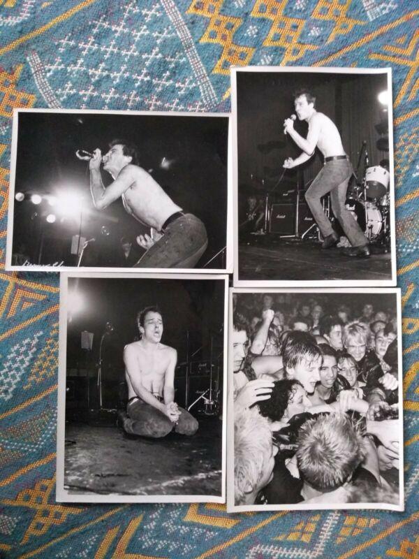 4 DEAD KENNEDYS ORIGINAL VINTAGE PHOTOGRAPHS London 1981 Jello Biafra punk