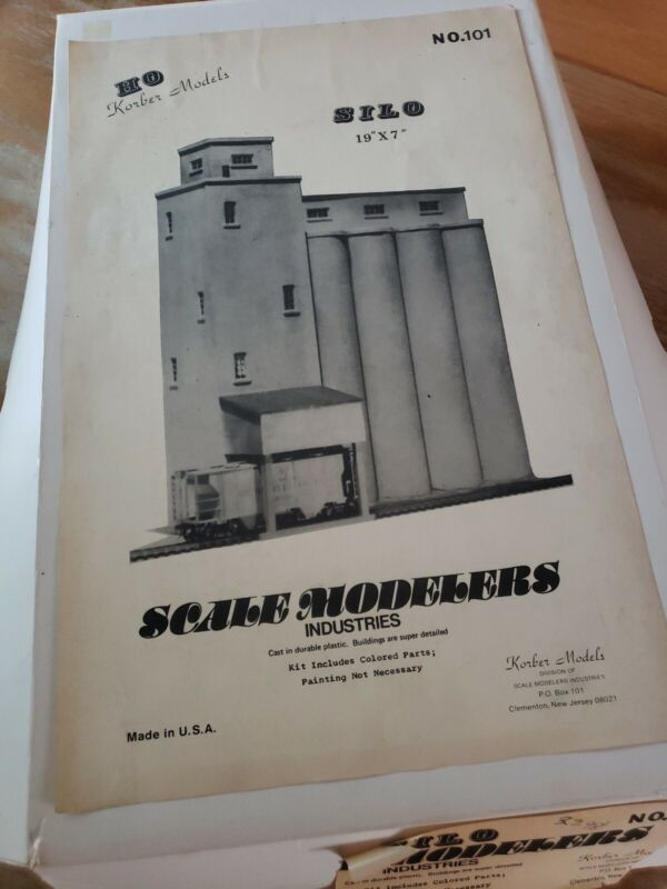Vintage HO Scale KORBER Scale Modelers Industries 101 Silo Kit NIB
