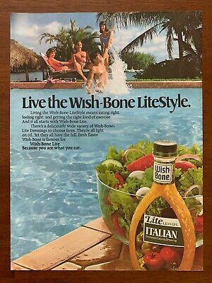 1987 Wish-Bone Light Italian Dressing Vintage Print Ad/Poster Food Art Décor