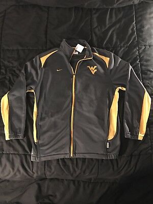 West Virginia State Jacket Nike Authentic Dri Fit Zip Up Stitched Logo