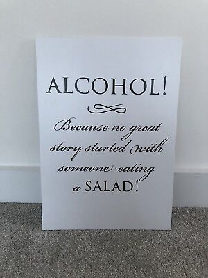 Bespoke A3 'Alcohol' Wedding Board/Sign