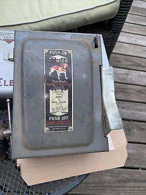 Bull Dog Junior Vacu-break Safety Switch Fuse Breaker Box 220volt 30 Amp