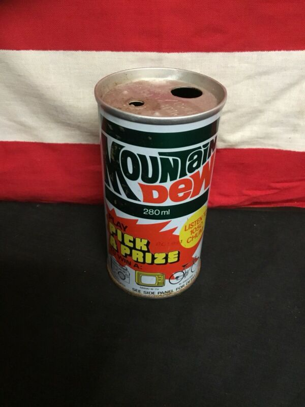 Super Rare Vintage 1960s Mountain Dew Promo Soda Can Canadian. Super Rare.