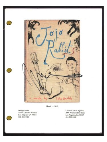 Taika Waititi Signed Autographed JOJO RABBIT Movie Script Screenplay COA