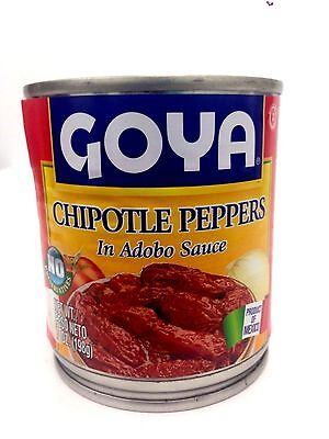 GOYA CHILES CHIPOTLES ADOBADOS - CHIPOTLE PEPPERS IN ADOBO SAUCE 7 OZ PACK OF 4