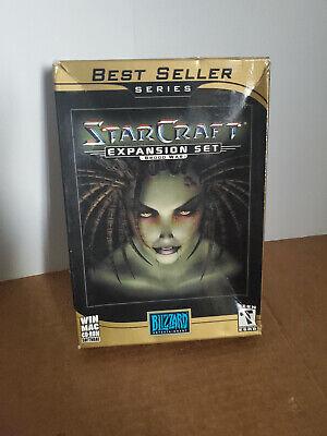 SEALED StarCraft Expansion Set Brood War Best Seller Series Mac PC GAME