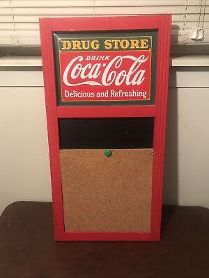 Coca-Cola Vintage Coke Chalkboard Tin Sign Menu Board Wall Decor 14x28