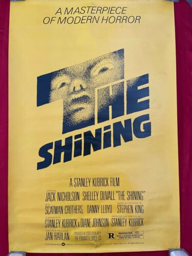 the shining kubrick original rolled poster usa nicholson horror 1980