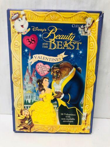Beauty and the Beast Valentine Card Set Cleo Set of 38 Sealed Disney Vintage?