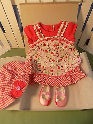 American Girl Bitty Baby Twin Pretty Picnic Outfit dress Hat Shoes NIB Gr8 Gift