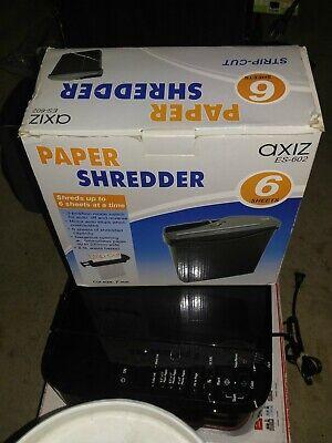 Axiz Paper Shredder 6-sheet Strip-cut Paper And Credit Card Home Office Shredder