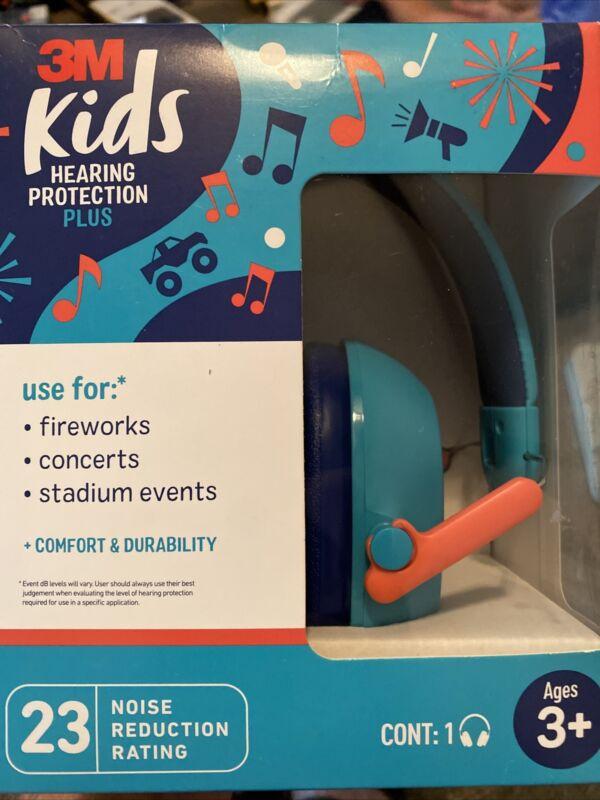 NEW 3M Kids Hearing Protection ANSI  Headphones Homeschool Quiet Adjust Compact