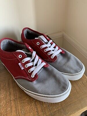 Vans Trainers Shoes in Wine/Grey UK Size 11