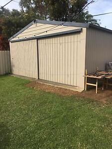 6.1m x 6.1m double car shed Albert Park Charles Sturt Area Preview