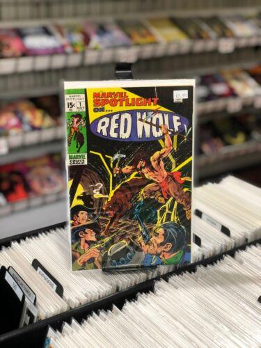Marvel Spotlight 1 Vol 1 Origin of Red Wolf - Neal Adams Cover - Marvel 1971