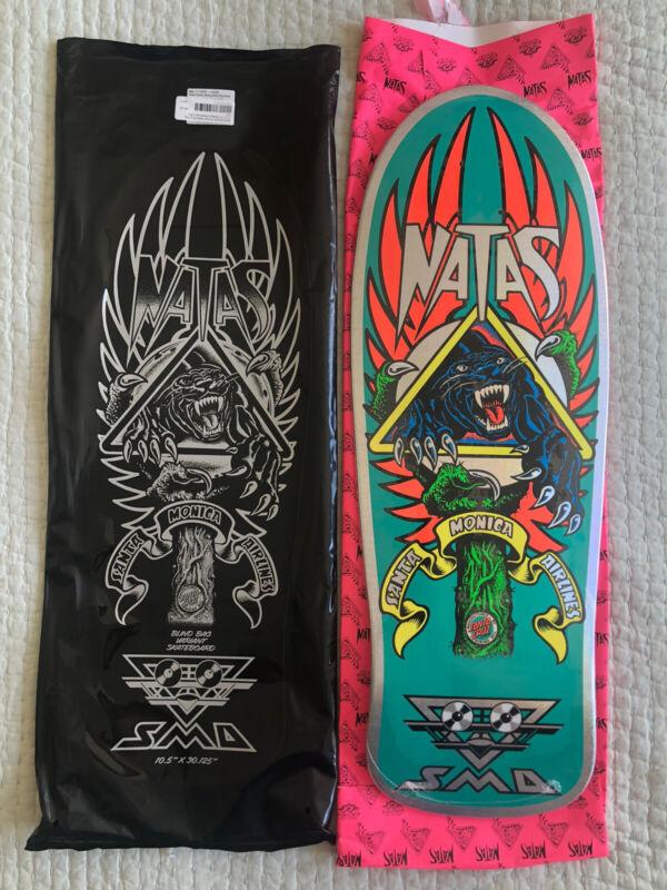 Natas Kaupas Santa Cruz Blind Bag Reissue Skateboard Deck Prismatic Teal Foil