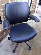 Black leather office chair Peakhurst Hurstville Area Preview
