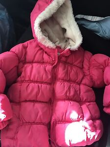 Old Navy fleece lined puffer jacket, 2T